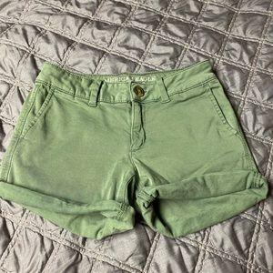 Army green American Eagle shorts